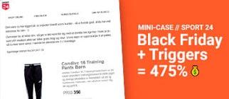 Mini case med Sport 24 – Med triggers steg omsætningen med 475%